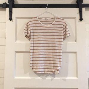 Madewell stripe tee xs
